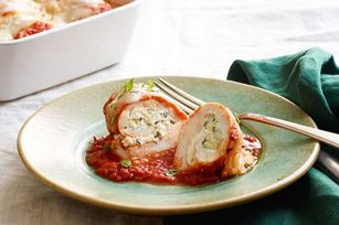 Paupiettes de poulet en sauce tomate et basilic