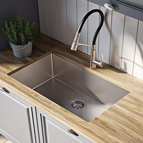 Kraus Khu100 28 Kitchen Sink 28 Inch Stainless Steel In 2020