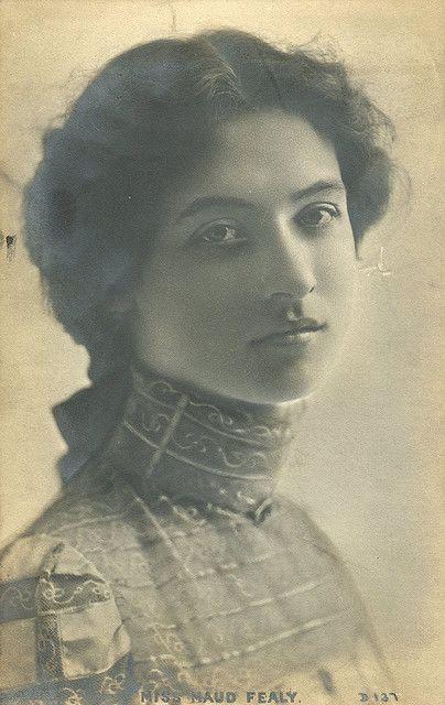 she is beautiful!  Maude Fealy - Bas-relief Photo Card postcard: 1906