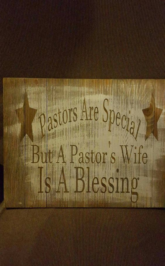 "Wood sign ""Pastor's are Special"" perfect for a gift or ..."
