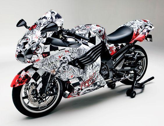 Fellers Kawasaki Zx 14 Wrapped With Custom Print On 3m