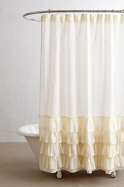 Ruffled Shower Curtain Anthrofave Your Anthropologie Favorites