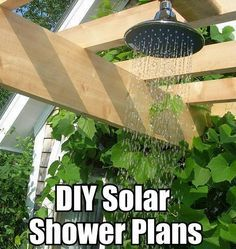 10 DIY Solar Heated Outdoor Shower Ideas - This site has a loooong list of DIY solar projects - GREAT for the desert!  http://www.builditsolar.com/index.htm