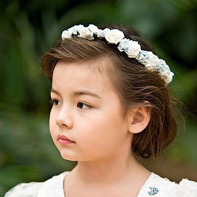 Lovely Paper/ Satin Flower Wedding Flower Girl Wreath/ Headpiece – USD $ 2.40