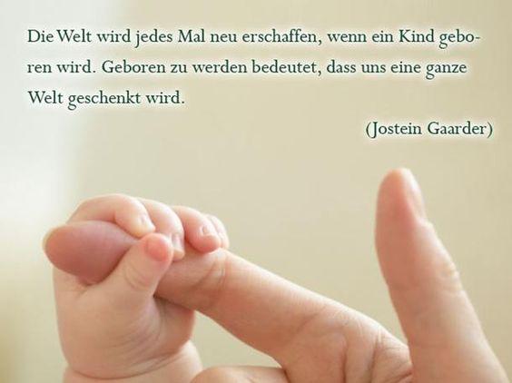 Die schönsten Sprüche zur Geburt: Eine Welt geschenkt