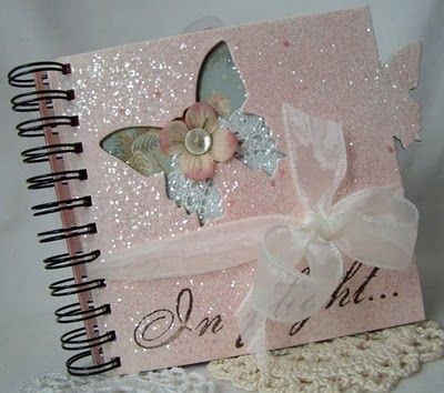 Glittery pink journal...cute!