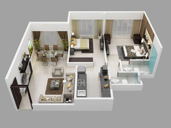 Best Flat Floor Plan Interior 2d 3d Small House Plans Small House Design Plans Small House Design Best house plan interior