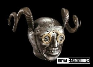 Henry VIII helmet with glasses