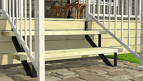 Peak Products Four Step Stair Riser The Home Depot Canada Steel Stairs Stair Risers Home Depot Canada