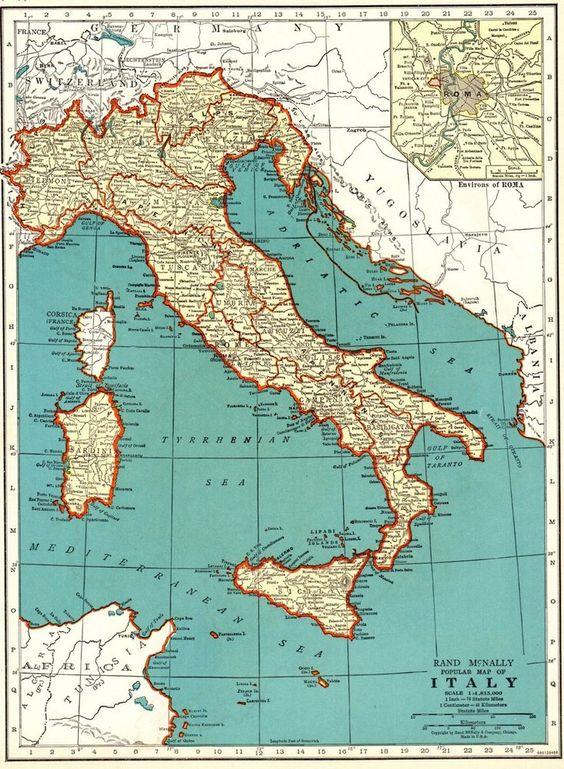 Ortelius Italy Northern Sardinia Sicily Corsica Reproduction Antique Map Print