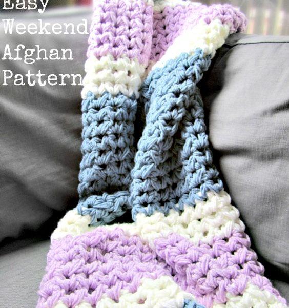 Easy Weekend Crochet Afghan Free Pattern | kostenlose Muster ...