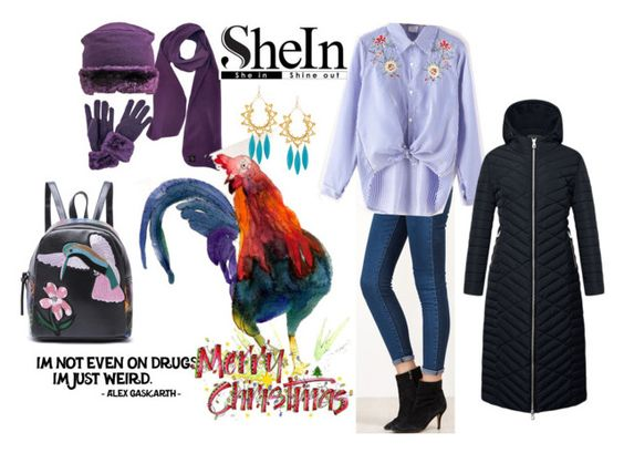 """""""Rooster Master"""" by sahelirima ❤ liked on Polyvore featuring Devon Leigh and puffers"""