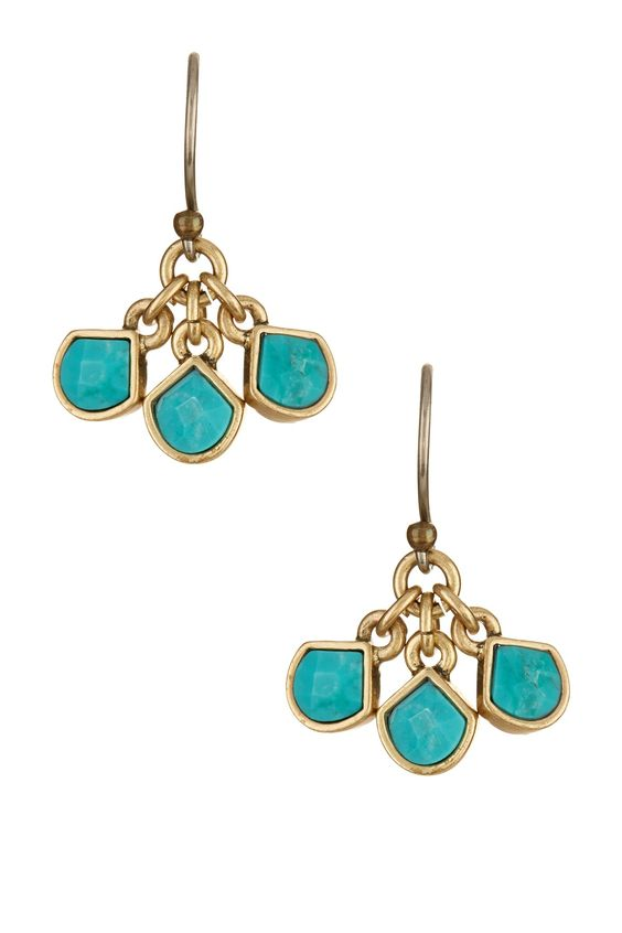 Turquoise Cluster Drop Earrings by Lucky Brand on @nordstrom_rack