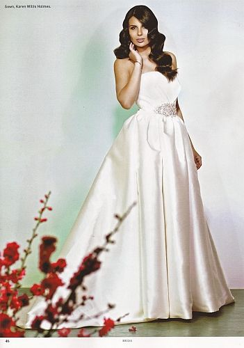 KAREN WILLIS HOLMES - wedding dress - jacqueline.  From Sydney Bride magazine. Image Peter Collie.