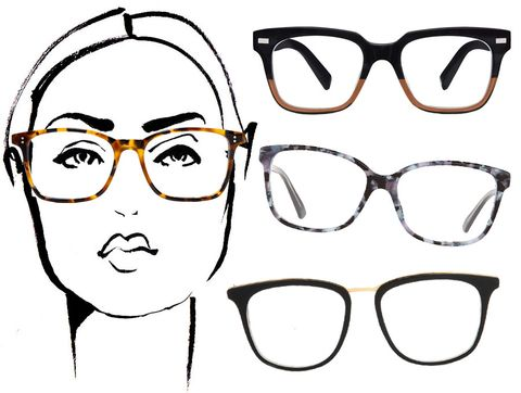 Cute Glasses Frames For Heart Shaped Faces : Shops, Straight lines and Chic on Pinterest