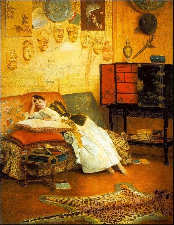 The Reading Woman (1888). Georges Croegaert (Belgian, 1848-1923).: