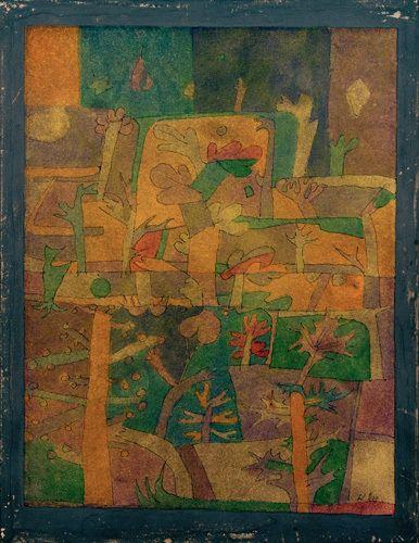 Paul Klee, Orientalische gartenlandschaft (Oriental Garden), 1924 on ArtStack #paul-klee #art