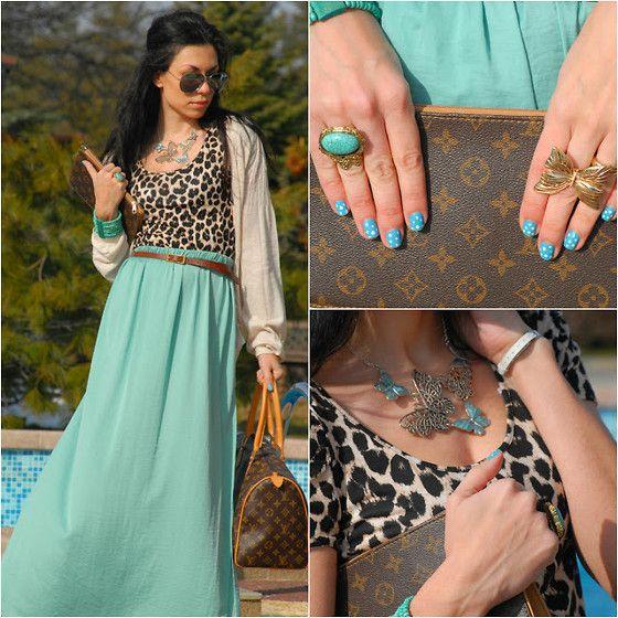 Maternity Maxi Skirt Outfit instagram | Zara Maxi Dress, Oriflame Butterfly Bag - Green butterfly jungle ...