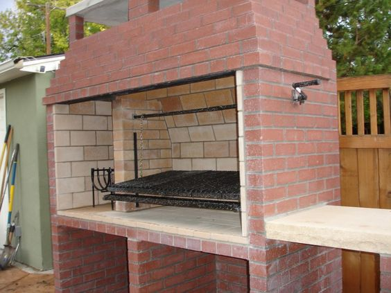 outdoor kitchen pizza oven design wallpaper Argentine parrilla