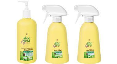 Conjunto Aloe Vera  Cuidado Animal composto por:      Champô Aloe Vera Animal (500ml)       Spray para Pelo Brilhante Aloe Vera Animal (400ml)     Spray de Emergência Aloe Vera Animal (400ml)