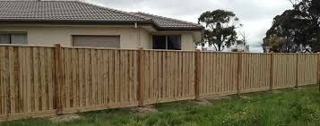Image result for paling fence with exposed posts