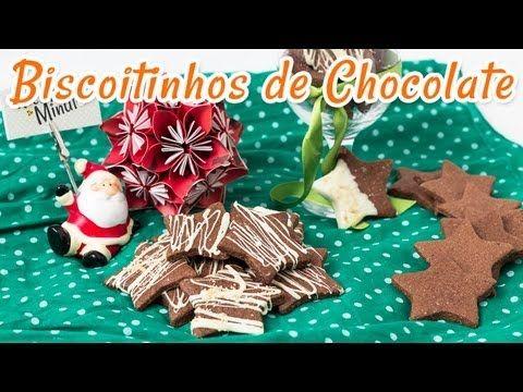 Biscoitinhos de Chocolate   Receitas de Minuto - A Solução prática para o seu dia-a-dia!