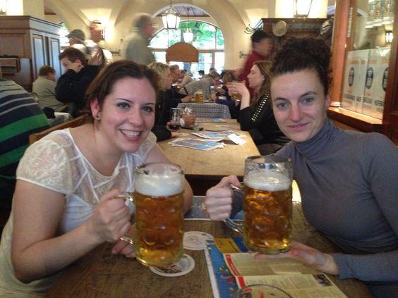 Tomando una chela en Munich