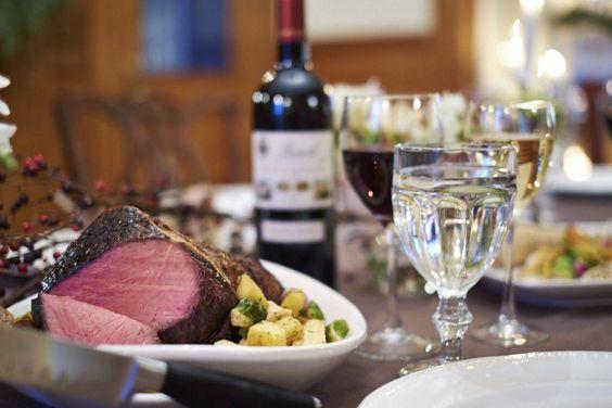 Holiday dinner at the Norumbega Inn, Camden Maine
