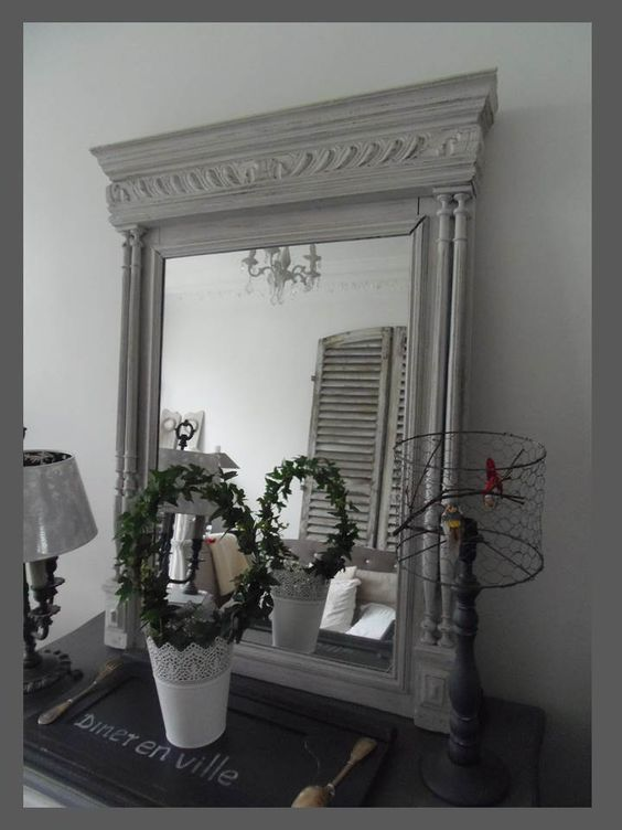 Pinterest the world s catalog of ideas for Miroir trumeau blanc