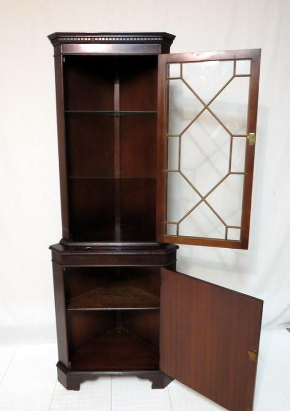 Delightful Vtg Antique Duncan Phyfe Sheraton Flaming Mahogany China Corner Cabinet  Regency #Regency | 404 | Pinterest | Duncan Phyfe, Regency And China