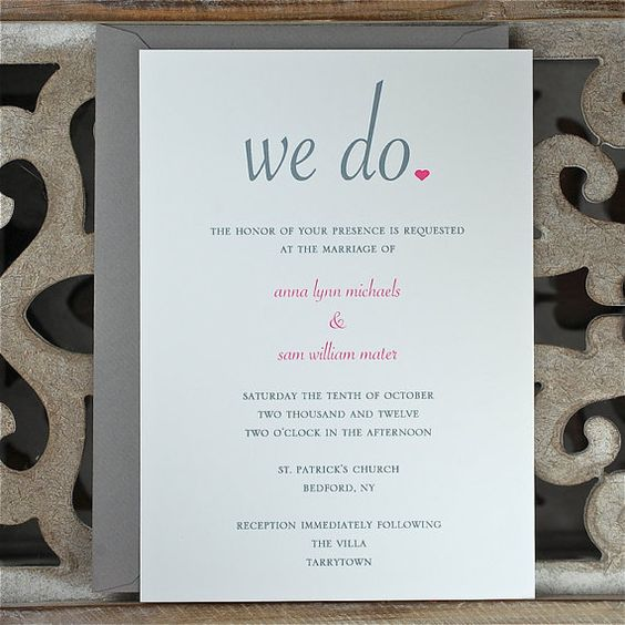 Wedding invitation wording that wont make you barf Columns