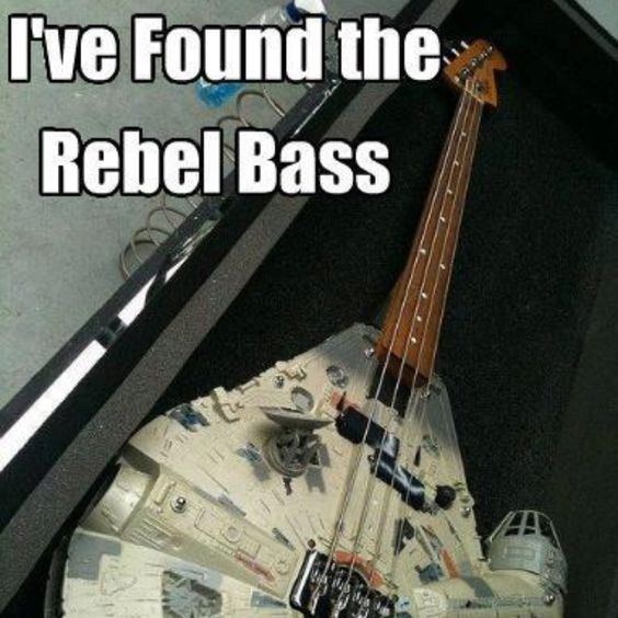 Get it? Like 'base'. Now you get it.: Geek Stuff, Rebel Bass, Millennium Falcon, Rebel Base, Bass Guitars, Star Wars, Falcon Bass, Starwars