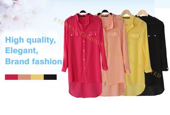 Femmes Bluz femininas chemises Camisas kimono cardigans , Plus la taille XXXL à manches longues tunique en queue de poisson mousseline de soie chemise Blouses roupas dans Chemises et Chemisiers de Accessoires et vêtements pour femmes sur AliExpress.com   Alibaba Group