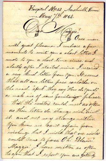 Civil War Love Letter Letter From William Henry Ruse Of
