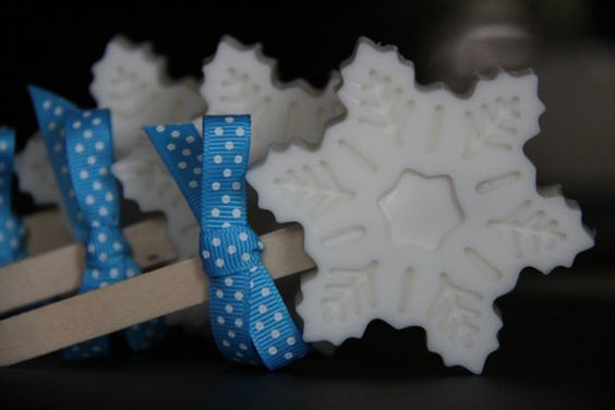 Disney Frozen Inspired Glycerin Snowflake Lolly by CaliseSoapworks