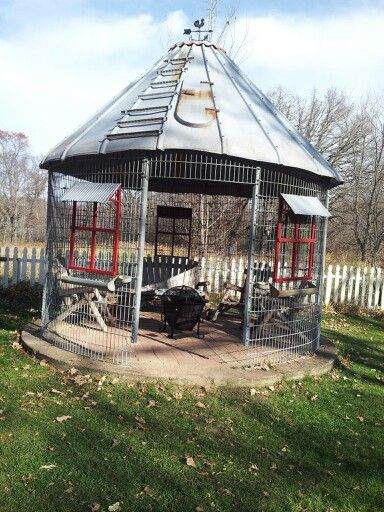 Old Corn Crib Silo Turned Into A Gazebo My Home