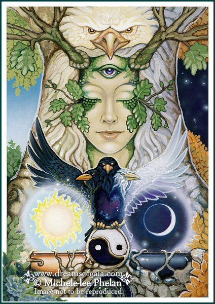 ✯ The Messenger Oracle Need and Necessity Card 32 :: Artist Ravynne Michele Phelan ✯