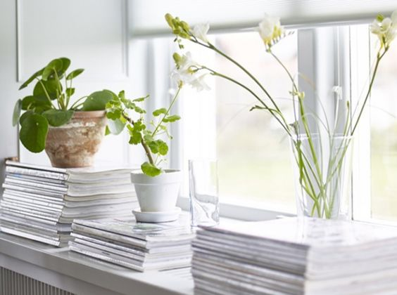 DIY : magazines sur rebord de fenêtre
