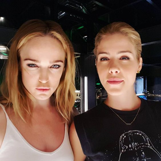 "Caity Lotz on Instagram: ""Pretty sure Em is wearing a Darth Vader shirt"""