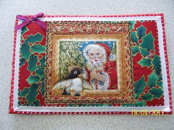 Fabric Postcard Christmas