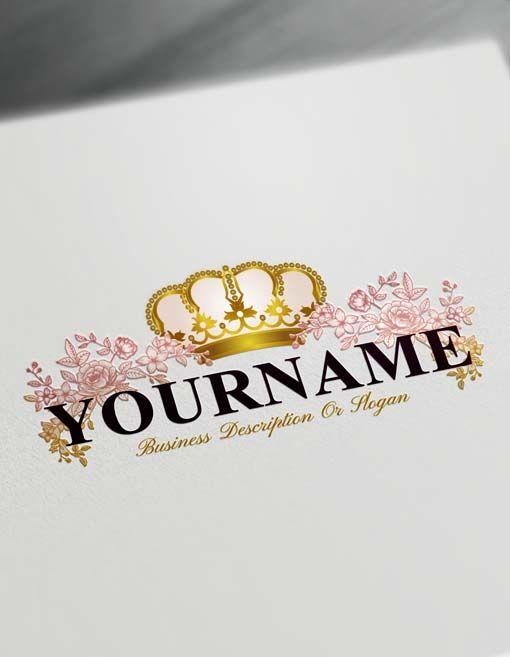 Online Roses Logo Template Free Royal Crown Vintage Logo Maker Free Logo Templates Vintage Logo Maker Logo Maker