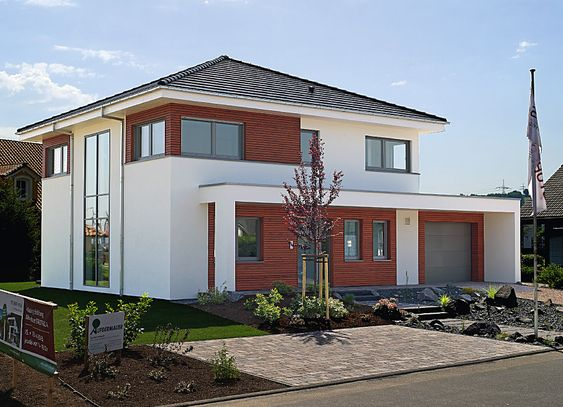 Haus bauen modern satteldach  Hausvorstellung Musterhaus Stadtvilla | architecture | Pinterest ...