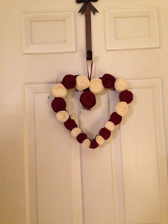 Valentine's Day Wreath by jendubina on Etsy, $25.00