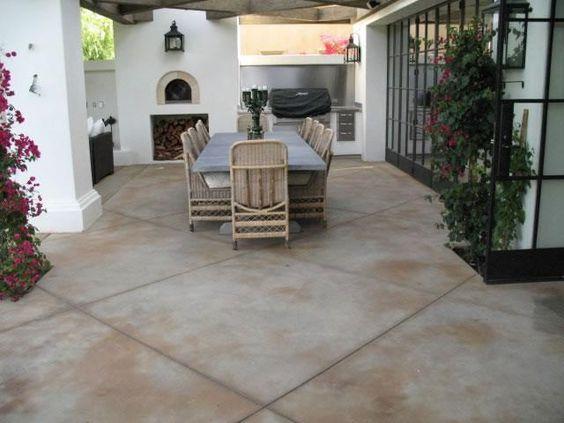 big concrete tiles