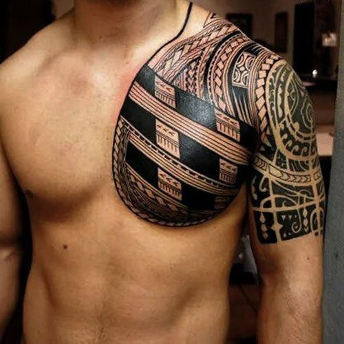 Unique Tribal Chest Tattoos Best Tribal Tattoos For Men Cool Tribal Tattoo Designs And Ideas F Tribal Chest Tattoos Tattoos For Guys Tribal Tattoos For Men