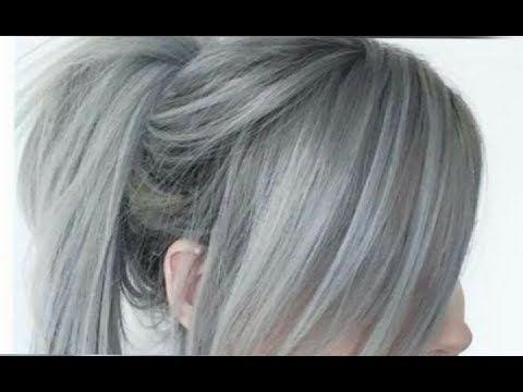 صبغة الشعر رمادي يهبل فقط بعلبة واحدة غارتييه ناجح خطوة بخطوة كما صورة الفديو Youtube Long Hair Styles Hair Styles Beauty