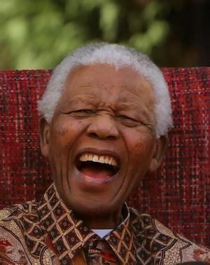 Nelson Mandela.  Lovely photo of an amazing man.