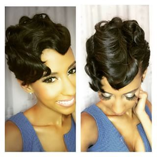 Sensational Pinterest The World39S Catalog Of Ideas Short Hairstyles For Black Women Fulllsitofus