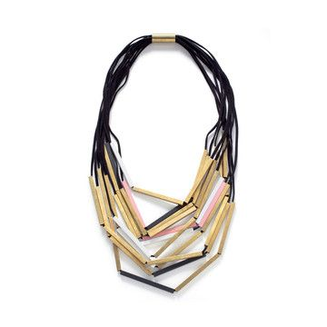 Wooden layered necklace