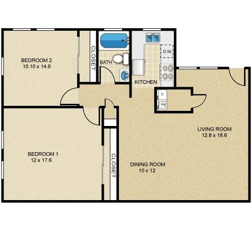 Square feet house plans and squares on pinterest for Floor plans 750 square feet